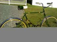 "23""(fits 5'7""-5'11"") green with Sturmey Archer 3 speed"