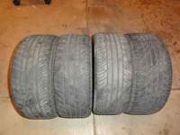 set of 4 used 18 in tires. Looks to better than 1/2