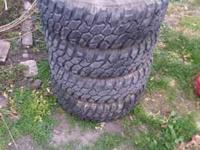 Set of good 235 75 15 enduro mud tires. They probably