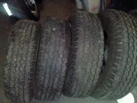set of 4 half tread matching. not choppey. even wear.