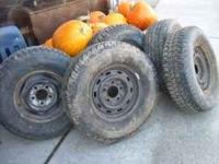 I have a set of four 235 75 r15 tires like new raidial