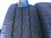 WE HAVE A PAIR OF GOOD USED 235/75R16 GOODYEAR WRANGLER