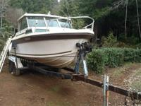 77' boat with a ford 302 inboard. Has a 9.9 hp kicker