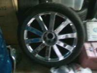 Set of four- 23 inch chrome rims with low profile