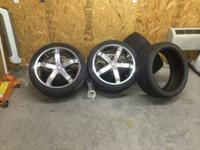 "I HAVE A NICE SET OF 23"" RIMS AND TIRES FOR SALE ASKIN"