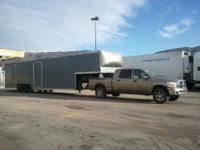44 foot, 1995 wells cargo, 3 car enclosed trailer