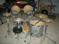 "Used D.W. Drum set.24""X18"",18""X16"",14""X14"",13""X13"" in"