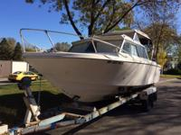 Please call owner Chad at . Boat is in St. Paul,