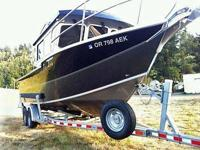 Please call boat owner Mitch at 541-390- four five five
