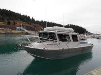 24.5' Boulton bonded aluminum sea skiff w / hard cabin,