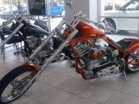 Metallic Orange Custom BILLY LANE Chopper - Perfect for