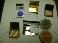 Collectable Ladies Powder Compacts. Some include Rouge.