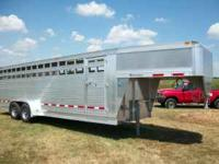 2011 EBY MAVERICK ALUMINUM STOCK TRAILER, ONLY USED 2