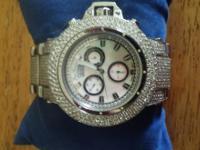 24 Carat Diamond Joe Rodeo Razor Watch Stainless Steel