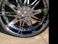 For sale is a set of 24 inch chrome rims and 235/30/24