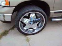 "Greed Krisp Chrome Rims, 24"" Set of 4, rims with tires,"