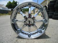 "UP FOR SALE IS A SET OF BRAND NEW 24"" CHROME RIMS"