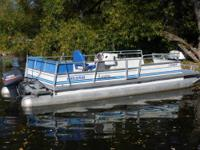 1983 Crest III pontoon boat with a 1997 Yamaha 50 HP