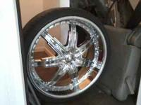 "Ive got a set of four 24"" davino wheels with"