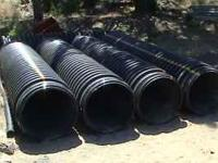 "24"" diameter High density Dual-wall polyethylene pipe."