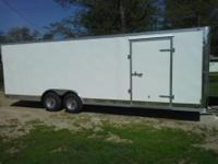 8.5 x24 Cross enclosed trailer with brite anodized
