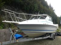 1989 Bayliner Trophy difficult top, new 351 motor