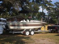 24 ft hydrasport cuddy cabin angling boat. 200 hp