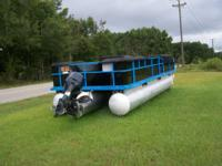 "24 foot Pontoon  26 ""  Tubes Completely renovated New"
