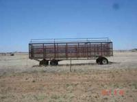 24 ft peanut trailer with tandem rear axles - $575 -  -