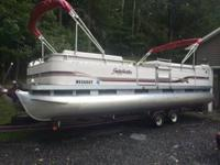 2001 24 ft Sweetwater Pontoon. Full Enclosure that was