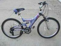 Girl's Next Pro Tiara bike. Purple with alittle pink.