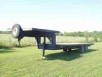 24' gooseneck trailer 7-6 x 7-6 top deck w/ramps &