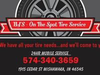we offer a 24 hour tire changing service, just call