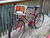 "Nice red 24"" Huffy Bicycle for sale, $50.00. Come and"