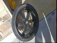 "24"" Black rims with tires Brand new tires with black"