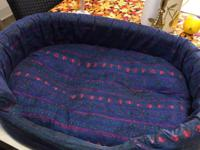 24 inch cloth and foam pet bed with waterproof bottom