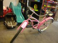 24 inch electra pink bike, our price is 150.00.  Little