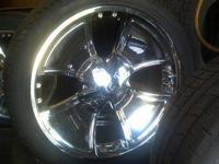 Somewhat Used Player 24 inch Chrome Wheel Rims with