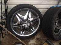 I have 4 rims and tires. Rims are in outstanding shape