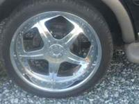 24'S ON NICE TREAD TIRES TIRES ONLY 6 MONTHS OLD 5 LUG