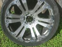 I am selling my 24 inch Monster XD chrome rims. I have