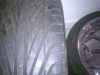 295/35R24 90% Tire tread still like new. If interested