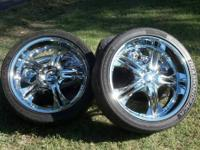 "I have a set of 24"" Luxury Hero wheels with Diamondback"