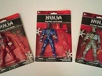 Ninja Action Figures With Accessories - slice and dice