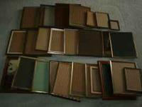 24 Old/vintage picture frames. Some metal, some are