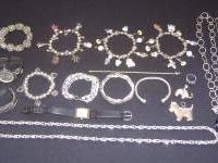 I have 24 pieces of misc. jewelry, mostly silver. I