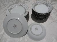 Made in japan.  12 small plates (saucers) 12 small