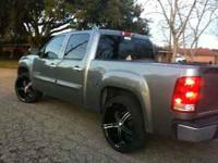 "24"" bZo black rims for GMC/Chevy 6 lug. 2 tires have"