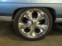 "4 24"" Cabo rims and tires 3 Tires are brand new. text"