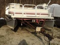 For sale is a 1988 Riviera Cruiser pontoon boat. It's